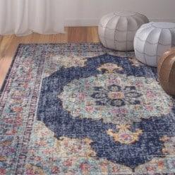 Budget Furniture - Ashburn Dark Blue Area Rug width=
