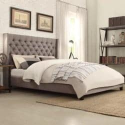 Budget Furniture - Borchers Upholstered Panel Bed width=