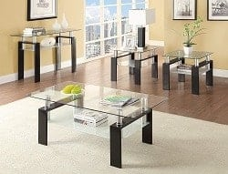 Budget Furniture - Coaster Glass Top End Table In Black width=