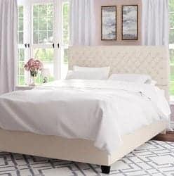 Budget Furniture - Hyannis Queen Upholstered Platform Bed width=