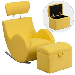 unique furniture - fabric rocking chair