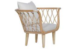 Amsterdam Accent Chair, White