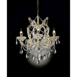 Bella Petite Gold Crystal LED Chandelier