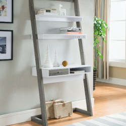 Best Minimalist furniture - Syrna Wood Leaning_Ladder Desk