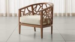 Bohemian Furniture - Ankara Grey Wash Frame Chair with Fabric Cushion1