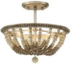 Bohemian Furniture - Harding 3-Light Semi Flush Mount