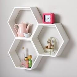 Bohemian Furniture - Honeycomb White Hexagon Shelf