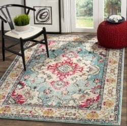 Bohemian Furniture - Lennert Light BlueFuchsia Area Rug
