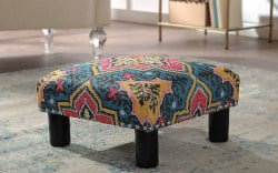 Bohemian Furniture - Nailhead Trim Accent Ottoman Bench