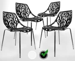Bohemian Furniture - Stackable Birch Sapling Accent Armless Side Chairs 1