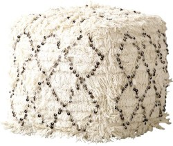 Bohemian Furniture - Tianna Moroccan Wedding Quilt Ottoman
