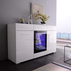 best minimalist furniture - LED Sideboard Buffet Cabinet Server Table