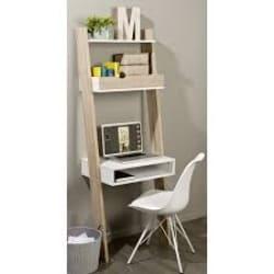 minimalist apartment furniture - Syrna Wood Leaning_Ladder Desk