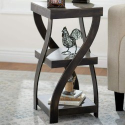 minimalist family room furniture - Antique Finish Twisted Side Table