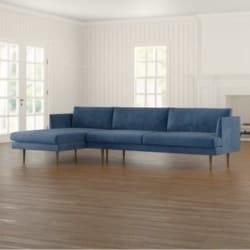 minimalist family room furniture - Busse Velvet Sectional