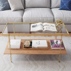 15. Rectangle Glass Coffee Table (1)