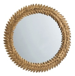 20. Gold Iron Leaf Wall Mirror