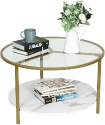 43. Round Tempered Glass Coffee Table (1)