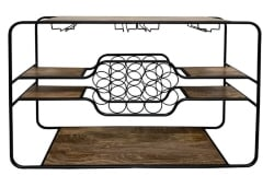 62. Wine Rack Console Table