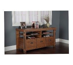 apartment furniture - Industrial Credenza Console with 3 File Drawers