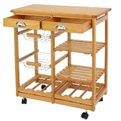 apartment furniture - Kitchen Island Storage Trolley Utility Cart Rack