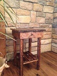 apartment furniture - Rustic End Table