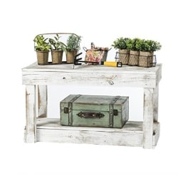traditional furniture - Del Hutson Designs Rustic Barnwood Bench w_Shelf, Reclaimed Wood