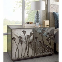traditional furniture - Evie Antiqued Mirrored Chest