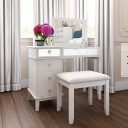 traditional furniture - Kemmerer Vanity Set with Mirror