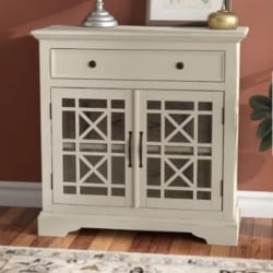 traditional furniture - Rodolfo 1 Drawer 2 Door Accent Cabinet