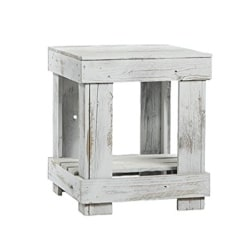 traditional furniture - Rustic Barnwood End Table