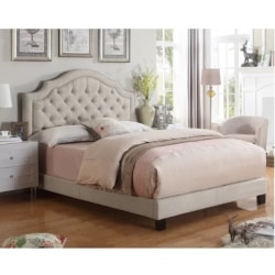 traditional furniture - Swanley Upholstered Panel Bed