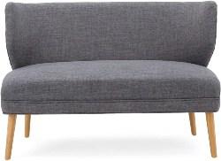 20. Mid-Century Modern Fabric Settee (1)