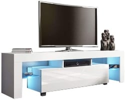 8. High Gloss TV Stand with LED Lights (1)