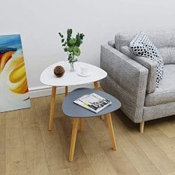 modern living room furniture - Bamboo Nesting Triangle End Table