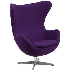modern living room furniture - Fabric Egg Chair with Tilt-Lock Mechanism