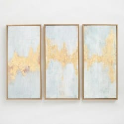 modern living room furniture - Fluent In Golds Triptych By Elinor Luna Wall Art Set Of 3
