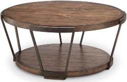 21. Industrial Bourbon Coffee Table with Casters (1)