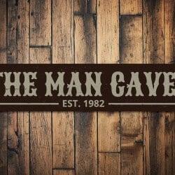34. Man Cave Established Date Sign