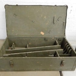 35. Wooden Military Tool Chest
