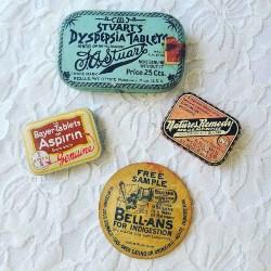 39. Antique Metal Medical Tablet Tins (1)