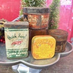 39. Lot of 4 Antique Advertising Tins
