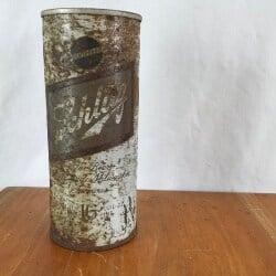 47. Rusty gold vintage Schlitz flat top tall boy beer can