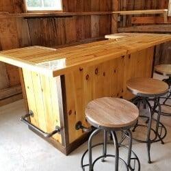 56. Custom Rustic Bar