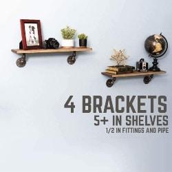 57. Industrial Pipe Wall Shelf Mounting Brackets (1)