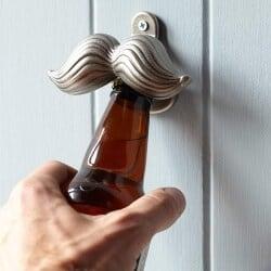 58. Cast Iron Mustache Bottle Opener