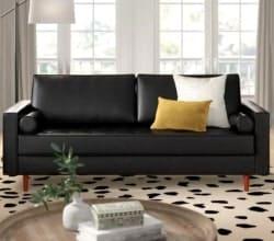 family room furniture - Bombay Leather Sofa