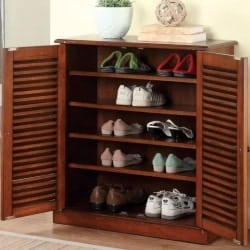 family room furniture - LaPlace Louvre 20 Pair Shoe Storage Cabinet