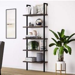 family room furniture - Theo Wood Ladder Bookshelf