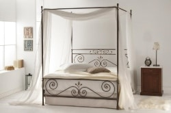 20. Canopy Metal Bed with Sturdy Bed Frame (1)